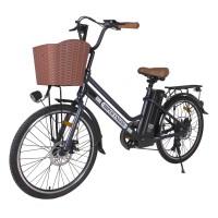 Электровелосипед HIPER Engine B67 (2021) коричневый/металлик