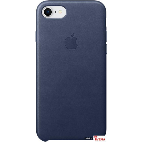Чехол Apple Leather Case для iPhone 8 / 7 Midnight Blue